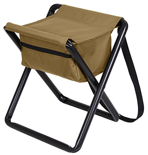 Rothco Deluxe Stool with Pouch, Coyote Brown