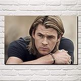 NOVELOVE Wandkunst Bild Australischer Schauspieler Chris