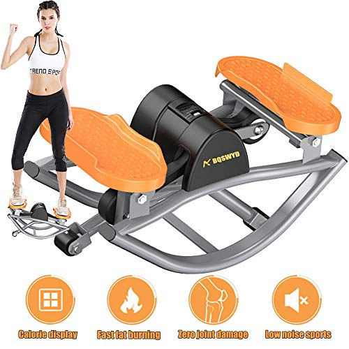 Lowest Prices! BQSWYD Swing Stepper Bike Fitness Equipment, Mini Twisting Stepper with LCD Monitor, ...