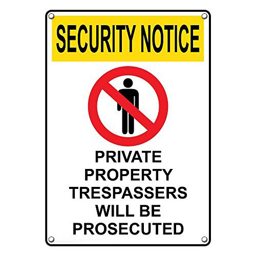 Weatherproof Plastic Vertical OSHA Limited time sale Security Private Notice Prope Max 74% OFF
