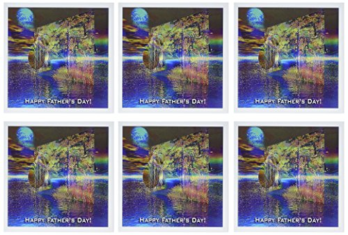 3dRose Color of Sundown, Happy Fathers Day, 3d - Greeting Cards, 6 x 6 inches, set of 6 (gc_15253_1)