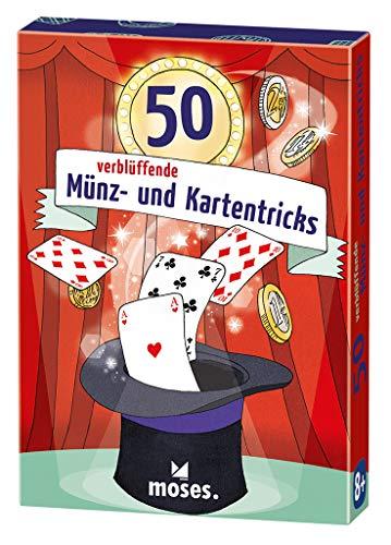 moses. 30244 50 verblüffende Münz und Kartentricks | Kinderbeschäftigung | Kartenset, bunt