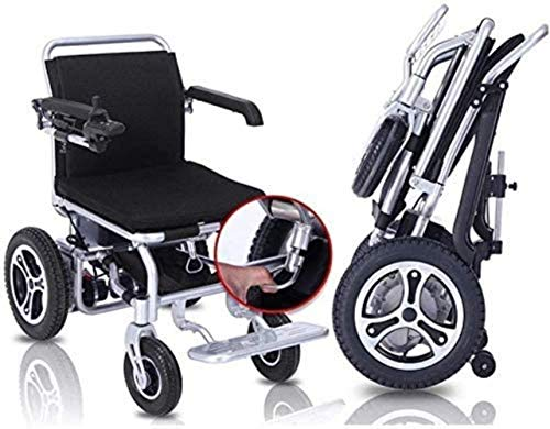 JYHJ Silla de Ruedas eléctrica Plegable Scooter portátil con discapacitados de Ancianos batería de Litio aleación de Aluminio (Negro, Rojo 250w * 2) (Color: Rojo), Negro, Color Nombre: Negro