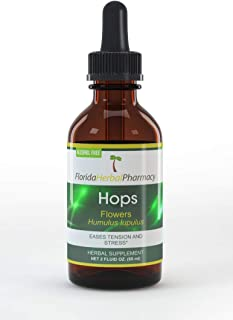 Florida Herbal Pharmacy, Alcohol - FREE Hops (Humulus lupulus) Tincture/Extract 2 oz.