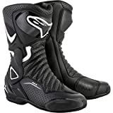 Alpinestars Women's Stella SMX-6 v2 Vented Street Motorcycle Boot, Black/White, 39