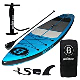 """BRIGHT BLUE Fusion All Round 11'6"""" Inflatable Stand Up Paddle Board (6"""" Thick)"""