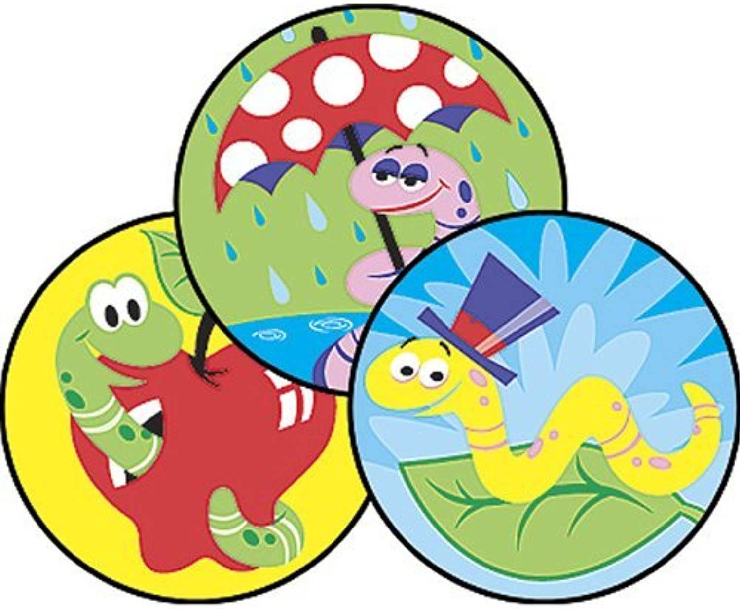 60 x Wiggly Worms Stinky Stickers (Dirt Scented) by TREND ENTERPRISES INC.