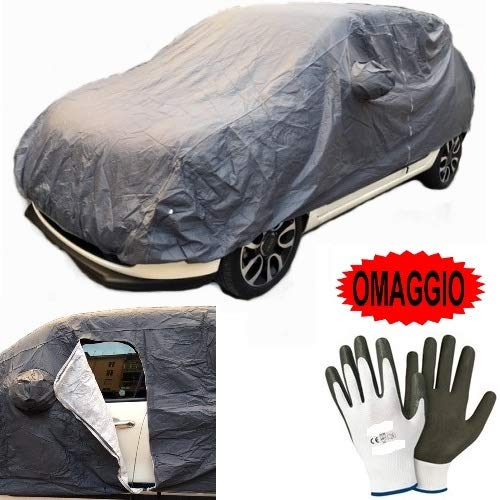 Compatible avec Alfa Romeo Giulia 2.2 TD 180 CV AT8 AWD Q4 Super Housse DE Voiture IMPERMÉABLE avec Doublure Toile BÂCHE Taille L 482X196X140CM Couverture Anti-Rayures Universelle