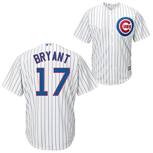 Outerstuff Kris Bryant Chicago Cubs MLB Majestic Youth 8-20 White Home Cool Base Replica Jersey (Youth Medium 10-12)