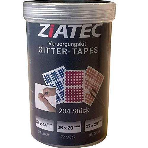Kintex [2er Set] Cross Tapes Box mit 204 Pflaster + Ziatec Tape Schutzdose