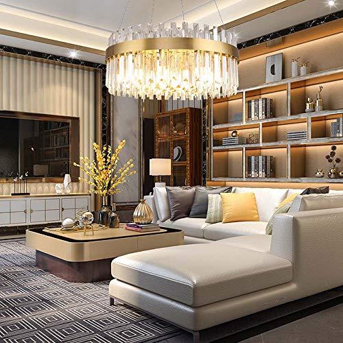 no-branded Sygjal Habitación Modelo posmoderna Modelo de Cristal Redondo Habitación Comedor Comedor Dormitorio Lámpara de diámetro 60 cm, 80 cm (Size : 60cm)