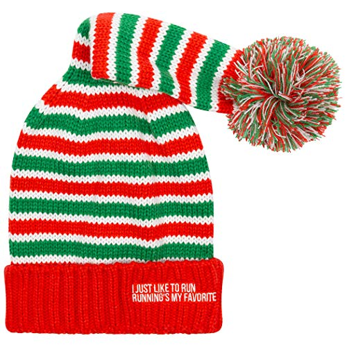 Gone For a Run Running Elf Pom Pom Beanie Hat | Running Hats