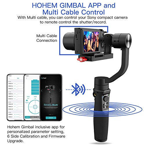 for Panasonic Lumix Playload 400g Smartphones iSteady Multi for Canon PowerShot for Gopro8 Gopro Max and iPhone 11 pro max Hohem Digital Camera Gimbal Stabilizer 3-in-1 Gimble for Sony RX100
