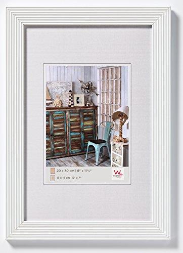 walther design HI430W Grado Holzrahmen Format 24 x 30 cm, weiß