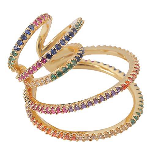 Happyyami - Pendiente para oreja, con pedrería, para orejas (pendiente individual)