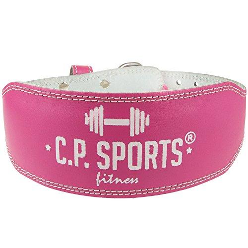 CP Sports Lady Gürtel Leder lachs – Frauen, Damen Gewichthebergürtel – Stützgürtel (L = 84 – 99cm) - 3