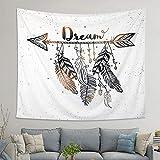 LOMOHOO Arrow Tapestry Vintage Feather Dream Tribal Aztec Style Boho Decor Art Bohemian Tapestry Wall Hanging Bedroom Dorm Living Room Blanket Decoration (M:130x150cm/51'x59')