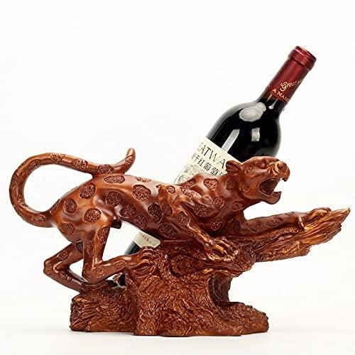 Decoración del hogar Decoración en forma de tigre En forma de vino Resina Encimera de vino Tigres Tigres Los titulares de vinos se para contador, estante de botellas de vino, para barra de licor, mesa