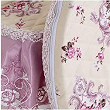 Soft Cleantoilet Seat Cover Set Lace Floral Print Closestool Protector Toilet Cushion Pad Bathroom Fulinmen