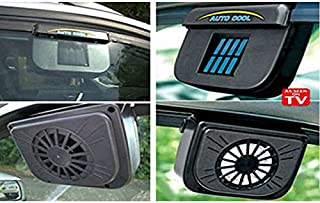 UXOXAS Solar Powered Car Air Vent Cooling Fan