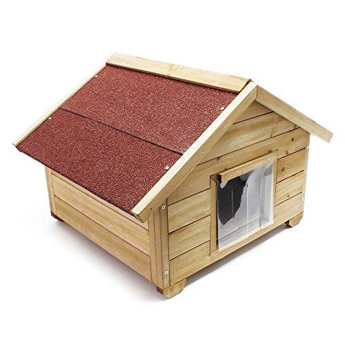 WilTec Caseta pequeña para Gatos casa hogar Impermeable Aislado Exterior para jardín