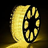 CHIMAERA 150ft Warm White 2 Wire LED Rope Light Outdoor Home Holiday Valentines Party Restaurant Cafe D¨¦cor