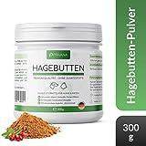 PRIVANA Natürliches Hagebutten Pulver - 300g - Reich an Vitamin C, Mineralien und Antioxidantien - Made in Germany - für Hunde & Katzen