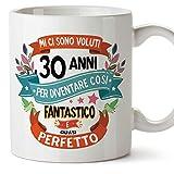 MUGFFINS Tazza Compleanno 30 Anni - Idee Regali Originali et Divertenti per Uomo e Donna - per lui/per lei. Ceramica 350 mL