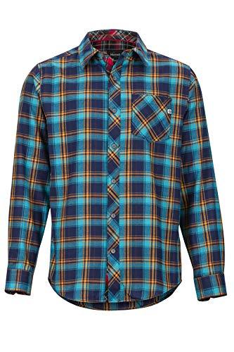 Marmot Herren Anderson Lightweight Flannel Langärmliges Outdoor-Hemd, Wander-Shirt Mit Uv-Schutz, Atmungsaktiv, Arctic Navy, L