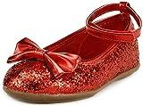 The Doll Maker Metallic Glitter Strap Flat Shoes-TD1511115E (13 Little Kid) US 1