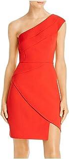 BCBG Max Azria Womens One Shoulder Side Slit Cocktail Dress
