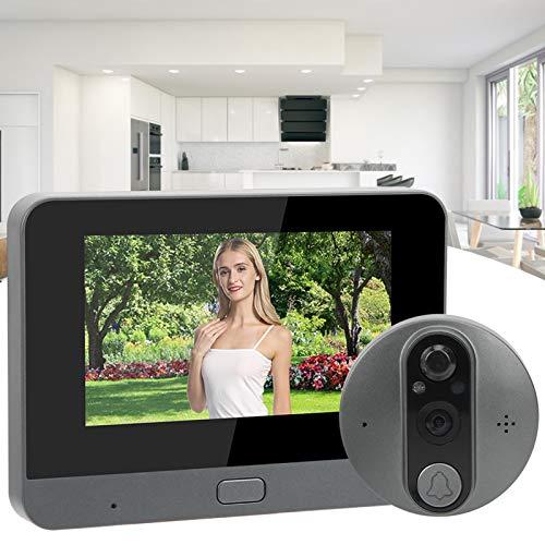 BOLORAMO Videoportero, videoportero Soporte de Imagen PIR, Sensor de Cuerpo Humano, Timbre Video 4.3in para el hogar