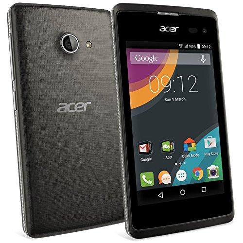Acer Liquid Z220 Dark 3G Smartphone Unlocked (Display: 4 Zoll, 8 GB, Dual-SIM, Android 4.4 KitKat) schwarz