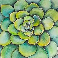 大人のための5Dダイヤモンドペインティングキットジューシーなグリーンタンギンアートペインティングクリスタルラインストーン塗りつぶされたアートキャンバスホームウォールDecor50x70