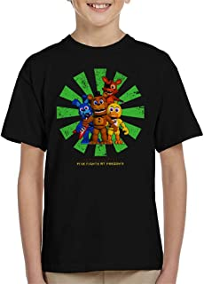 Cloud City 7 Five Nights At Freddys Retro Japanese Kid's T-Shirt