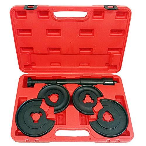 HENGMEI 5-TLG Innen-Federspanner Satz Fahrwerksfeder Teleskopspanner Werkzeug Montage und Demontage Werkzeugkasten