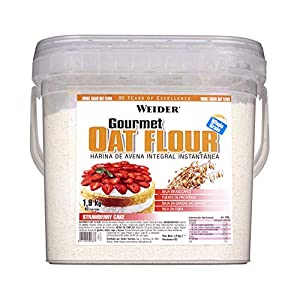 Weider Oat Gourmet. Harina de Avena Integral. Fuente de proteína con bajo contenido en azúcares. Sabor Tarta de Fresa (1,9 kg)