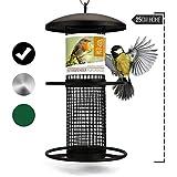 wildtier herz | Dispensador de comida para pájaros 25cm, columna de...