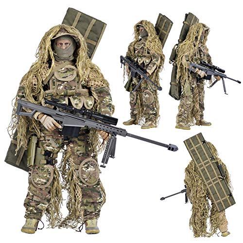 SXPC Simulación Militar de 12 Pulgadas Figuras de acción de Francotirador 1: 6 Escala muñeca Soldados del ejército Selva Ghillie Traje Modelo Juguetes