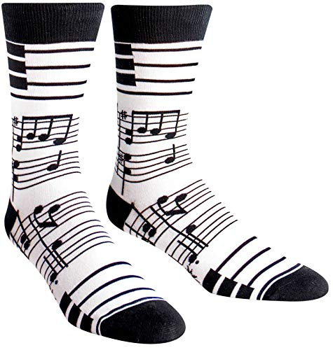 Sock It To Me Men's Foot Notes Crew Socks