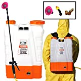 Petra 4 Gallon Battery Powered Backpack Sprayer – Extended Spray Time Long-Life Battery - New HD Wand Included, Wide Mouth Lid, Multiple Nozzles & Battery Included