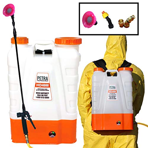 Petra 4 Gallon Battery Powered Backpack Sprayer – Extended Spray Time Long-Life Battery - New HD...