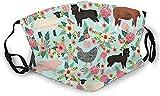 YRUI BwwoBing Face Mask Farm Animal Sanctuary Cow Pig Horse Goat Sheep Pet Floral Pattern Gifts Print Ski Mask Hat Neck Gaiter Headwear For Women Men