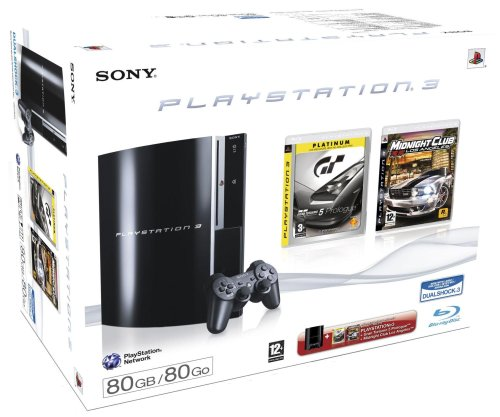 Console PlayStation 3 + GT5 Prologue Platinum + Midnight Club