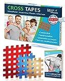 MediPhysio Gittertape Premium - Gitterpflaster Original - Innovatives Akupunkturpflaster inkl. Pinzette und Gitterpflaster Buch (ebook) - DERMATEST: SEHR GUT - Cross Tape Set (Typ A, B, C)
