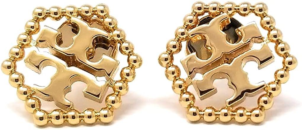 Tory Burch Women's Milgrain Hex Stud Earrings