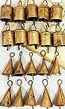 Handmade Metal Vintage Bells 2' H (Set of 20 Pieces)
