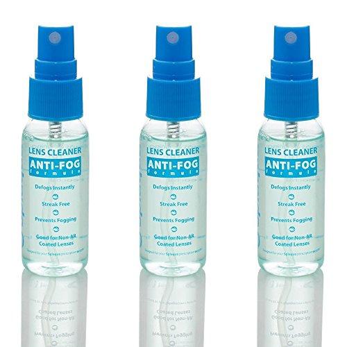 Anti Fog Spray Eyeglass Lens Cleaner, Long Lasting Defogger for Glasses, Goggles, Ski Masks Mirrors and Windows (3 Pack)