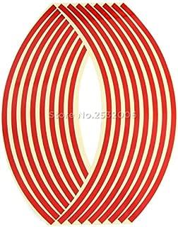 Car Reflective rim tape for Fiat 500 600 500l 500x diagnostic punto stilo bravo ducato linea freemont dobio Palio Siena viaggio - (Color Name: 17 or 18 inches red)