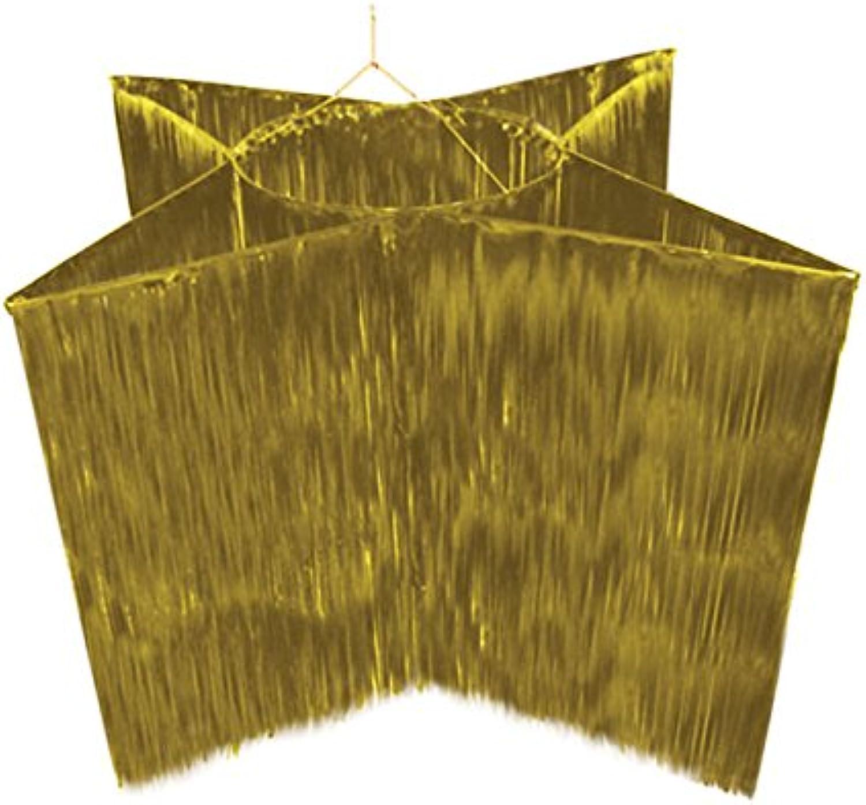 Lametta-Hnger  Golden Star Stern ca. 150 x 95cm Gold in Form eines Stern
